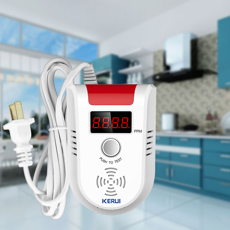 KERUI GD13 LPG Gas LED Display Gas Detector Wireless Intelligent Sensor Voice  Auto Detect Sensor Failure Leak Alarm SystemKERUI GD13 LPG Gas LED Display Gas Detector Wireless Intelligent Sensor Voice  Auto Detect Sensor Failure Leak Alarm System