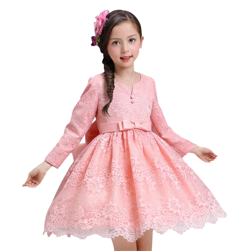 Winter Flower Girls Dresses Children Clothing Lace Wedding Party Girls Dress Birthday outfit Princess Infant Dress of Girl summer 2017 new girl dress baby princess dresses flower girls dresses for party and wedding kids children clothing 4 6 8 10 year