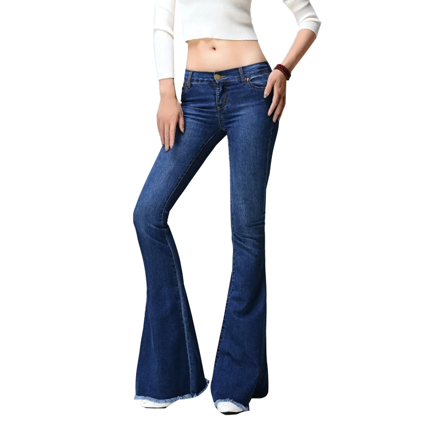 1c3a637794d9 Uwback vaqueros para mujeres 2017 pantalones vaqueros de las mujeres de  estilo Retro campana inferior Vaqueros Skinny Mujer Sexy de mujer Jeans ...