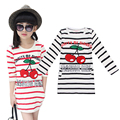 Girls T-Shirts Spring Kids Clothes For Girls Striped Cotton Girls Tops Casual Full Sleeve Children Clothing Cute Kids T-Shirts