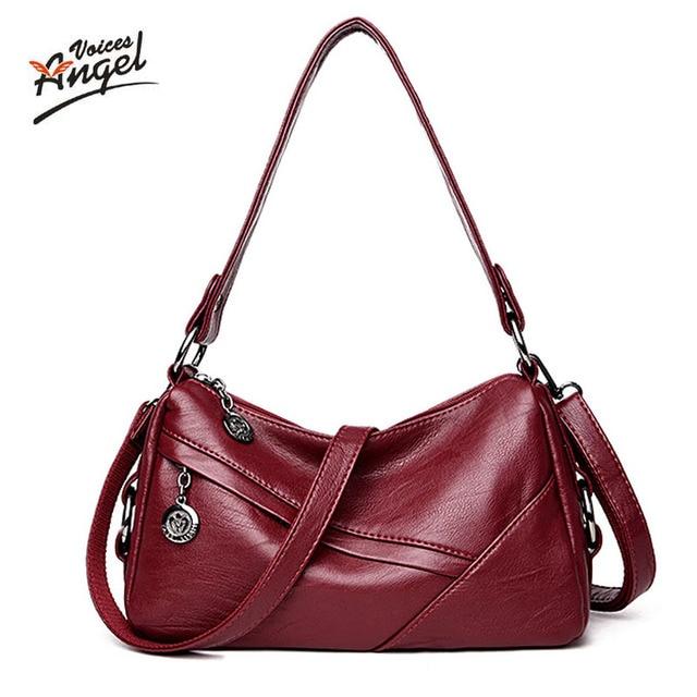 Angel Voi 2017 Fashion Women Genuine Leather Handbags sheepskin Messenger  bags female Crossbody Small Lady lambskin db7477ed5c