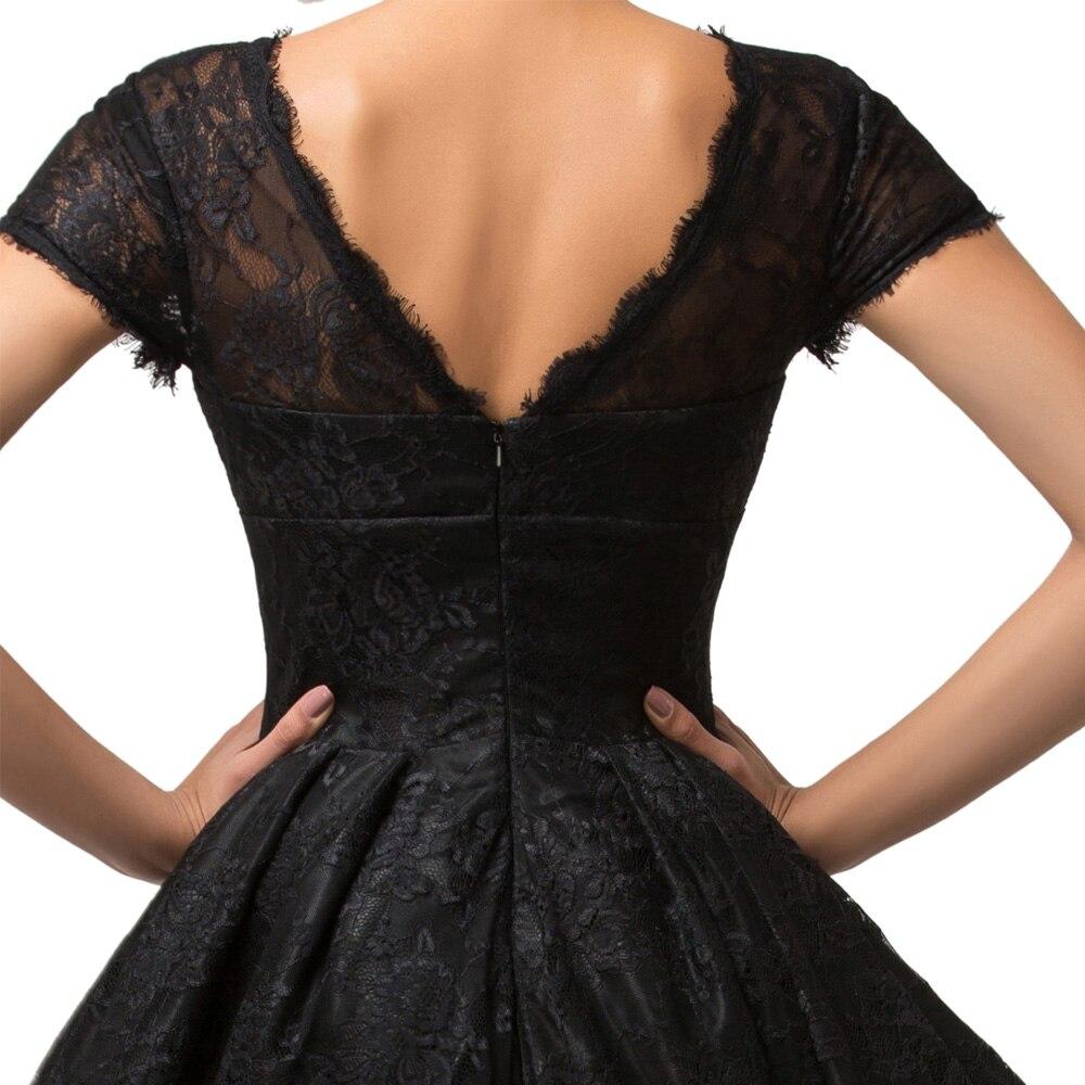 Grace Karin Short Sleeve Evening Dress 2017 Black Lace Gown Mother ...