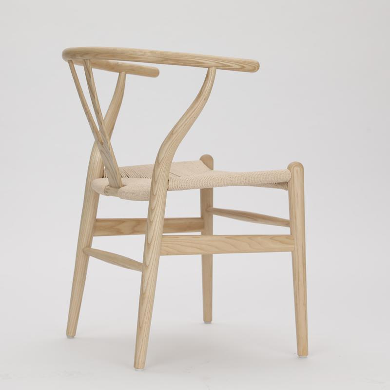 Nordic style dining chair New Chinese casual solid wood Y chair Western restaurant coffee shop back armchair - Цвет: style 4