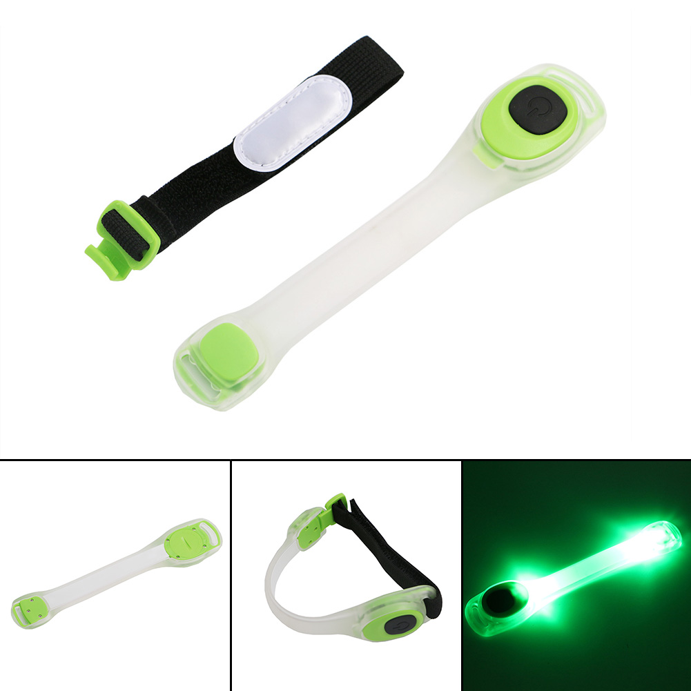 Sport Cycling Light Leg Arm Portable Running Safety Lamp 2 Modes LED Bicycle Bike Lights With Battery Outdoor Hiking Mini Light adjustable reflective arm leg ankle band for cycling running