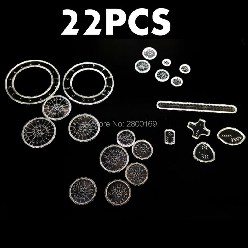 Spirograph-Drawin-22PCS-Accessories-Creative-Drawing-ToysSpiral-Designs-Interlocking-Gears-Wheels-Educational-toys-for-kids-1