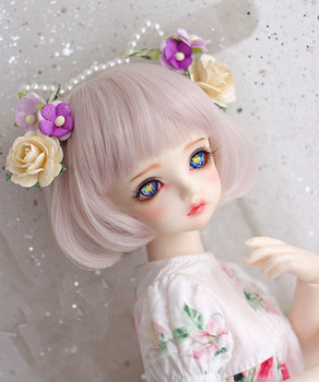 High temperature wire hair silver pink color short wigs available for 1/6 1/4 1/3 BJD SD DD MDD doll accessories mystery mdd 7900ds