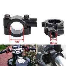 """7/"""" ручка для мотоцикла, держатель для зеркала заднего вида на руль, зеркальный зажим для KTM Suzuki Honda Для Kawasaki BMW Yamaha ATV"""