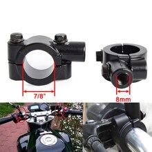 2 piezas 8mm 10mm manillar de la motocicleta espejo adaptador espejo retrovisor titular soporte de montaje de abrazadera para KTM Suzuki honda, Kawasaki, BMW