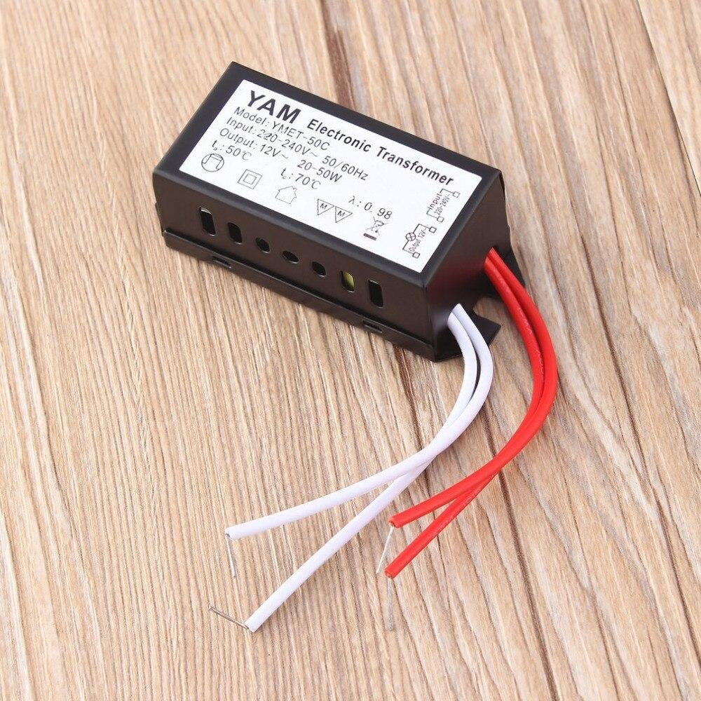 220 В переменного тока до 12 В постоянного тока светодиодный трансформатор питания галогенная лампа электронная защита от короткого замыкания новейшая Прямая поставка