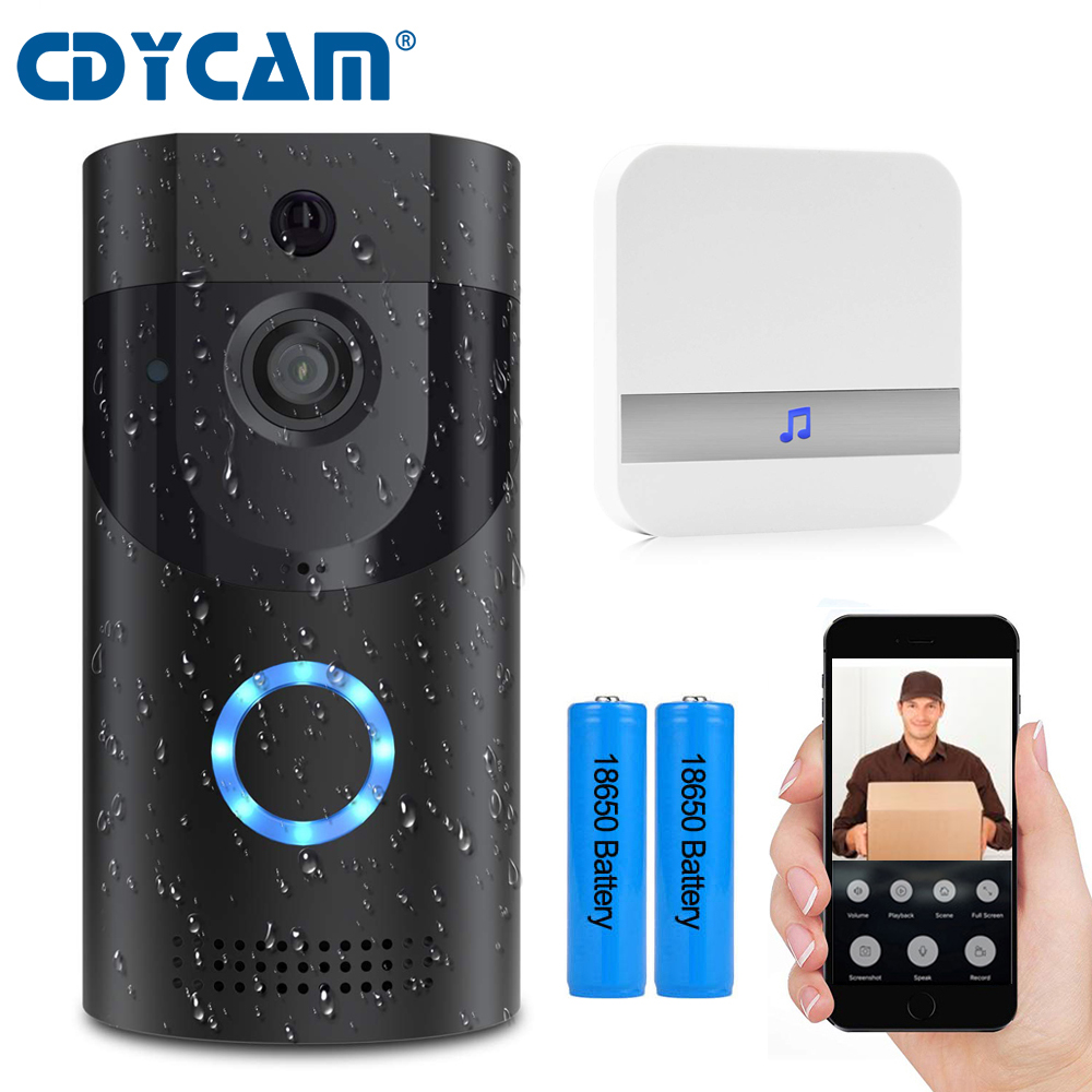 CDYCAM IP65 Waterproof Wifi Smart IP Video Intercom DoorPhone 720P HD Wireless DoorBell For Apartments Security
