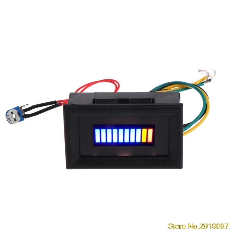 Fuel Level Gauge Indicator 12V Universal Motorcycle Car Oil Scale Meter LED Oilping Support