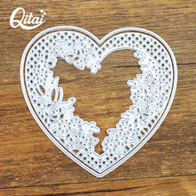 QITAI 2pcs/pack Metal Steel Heart Cutting Dies Stencils For DIY Knife Mould Scrapbooking Card Photo Album Decoration Craft D131(China)