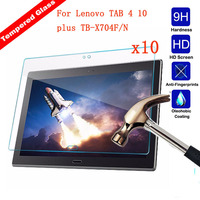 XSKEMP 10Pcs 9H Explosion Proof Toughened Tempered Glass For Lenovo TAB 4 10 plus TB X704F/N Tablet Film Screen Protector Guard
