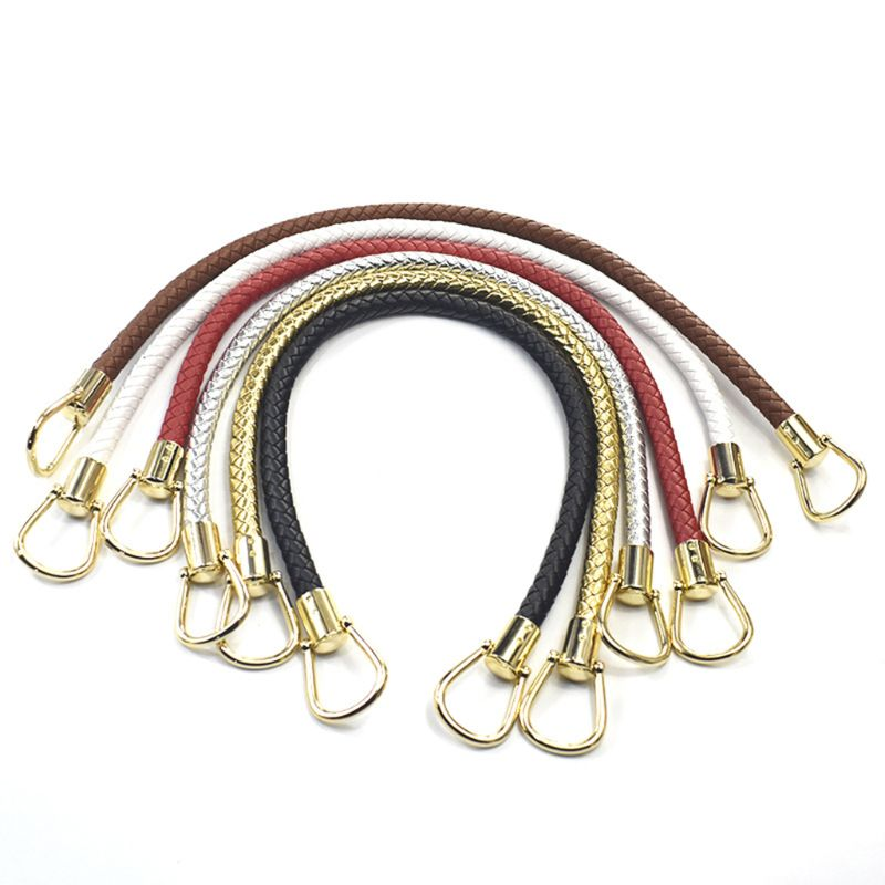 DIY Handbag Braided Pu Leather Purse Handles Handbags Replacement Straps Accessories in Bag Parts Accessories from Luggage Bags