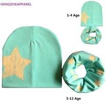 Для От 1 до 12 лет; детская шапка для маленьких мальчиков и девочек; осенне-зимняя хлопковая шапка; комплект с шарфом; Детские шапочки; шапки; аксессуары; шапочки