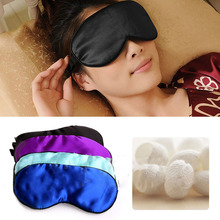 Pure Silk Soft Sleeping Aid Eye Mask Cover Shade Travel Relax Blindfold