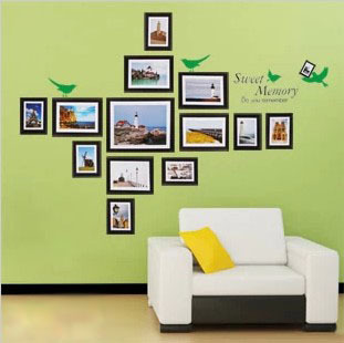 1 Set Photo Frames 11866cm Scenery Photos Living Room Vinyl Wall Art Decals Large