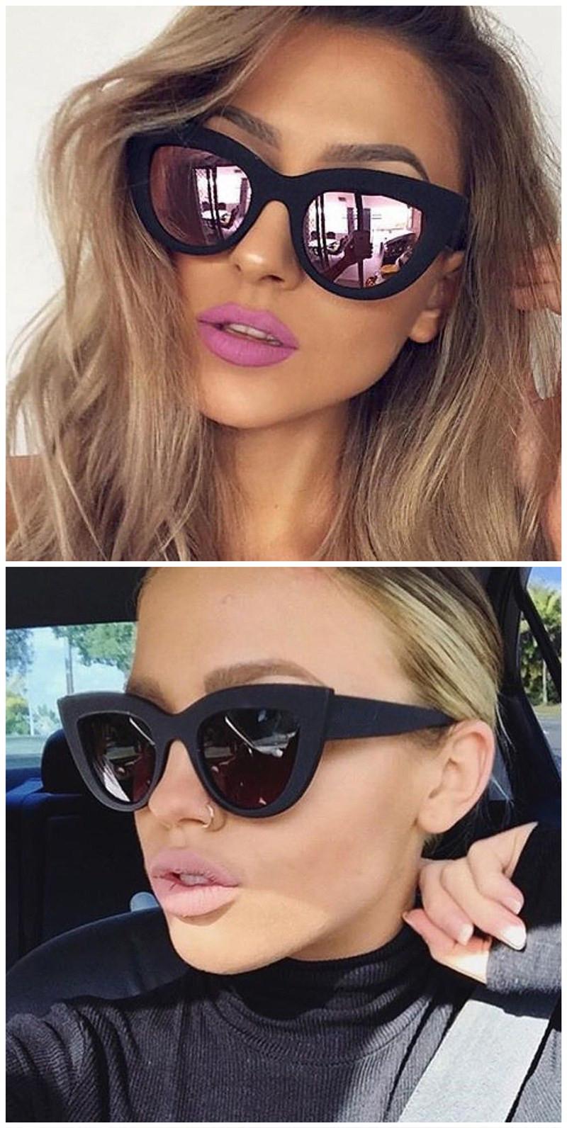 HTB1wr0KRVXXXXcjXVXXq6xXFXXXL - Rose Gold Cat Eye Sunglasses For Women Pink Mirror Shades Female Sun Glasses Black White Coating Cateye Aviation Oculos 2018