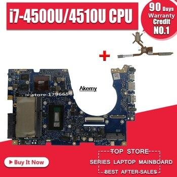 Для ASUS UX303UB UX303U UX303UB U303U материнская плата для ноутбука тест ОК GT840M 4 Гб ram i7-4500U/4510U cpu sed-Heatsink >> Laptop Parts Wholesale Store