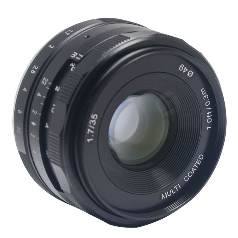 Mcoplus Meike 35mm f1.7 Manual Focus lens APS-C for Sony E Mount cameras NEX5 NEX6 NEX7 A6000 A3500 A7S A5100 A7 A7R A7S II etc wide angle 35mm 35 f1 7 manual lens for sony nex3n nex5t nex6 nex7 nex f3 nex c3 a3000 a5000 a5100 a6000 camera silver