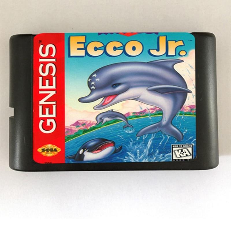 Ecco Jr. Game Cartridge Newest 16 bit Game Card For Sega Mega Drive / Genesis System