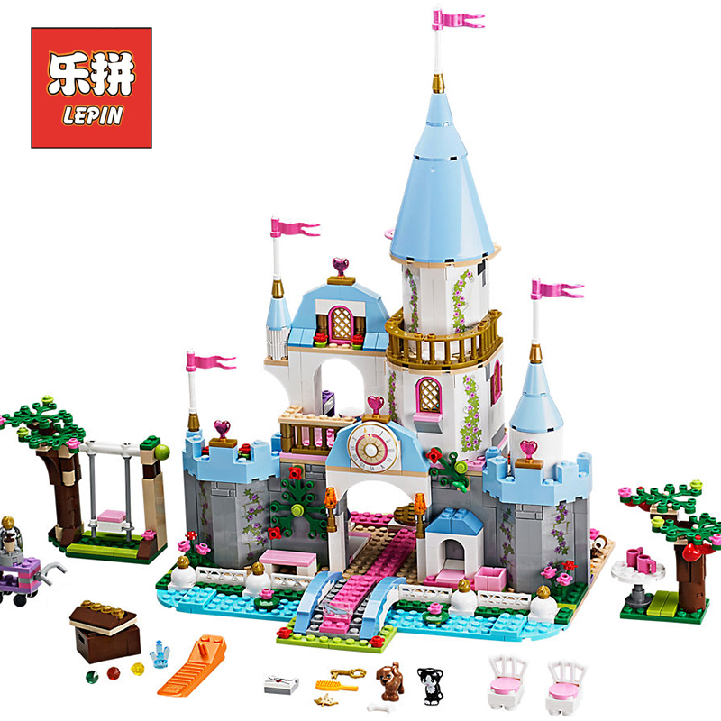 Lepin 25006 Friends Girl Series Princess Romantic Castle Palace Set 41055 Model Building Blocks Bricks Children Toy Christmas lepin diy girl friends series the undersea palace set castle building blocks bricks toys for children compatible with legoingly