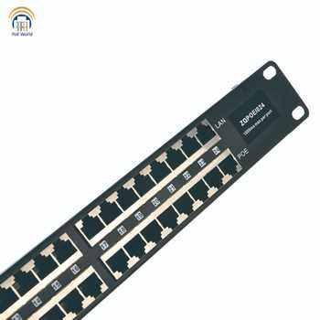 Passive PoE injector 24 Port Mid-span POE Patch Panel, Rack mount PoE Injector powered up to 24 IP Cameras CCTV Security camera - DISCOUNT ITEM  38 OFF Security & Protection