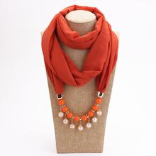2019 new style multi-color ethnic amber necklace ladies scarf jewelry pendant free shipping