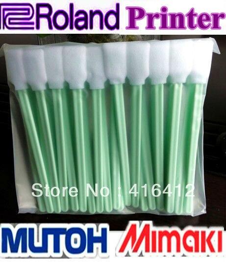 Dhl 3000個roland mimaki武藤プリンター溶剤洗浄綿棒泡クリーニング綿棒大型綿棒