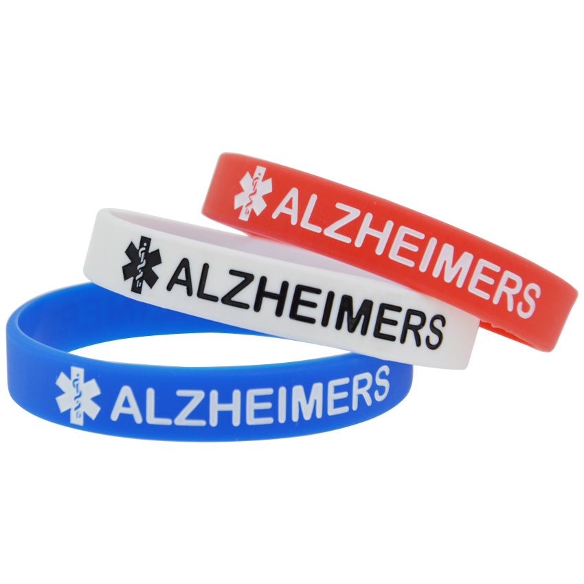 Bangles Contemplative 50pcs/lot Bracelet For Elders Medical Alert Alzheimers Silicone Wristband Back To Search Resultsjewelry & Accessories