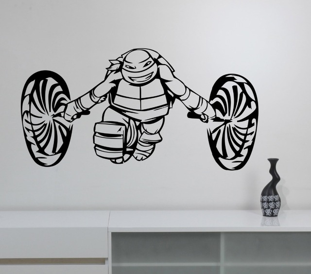 Ninja Turtles Wall Decal Boys Bedroom Decor Vinyl Wall Stickers - Ninja turtle wall decals