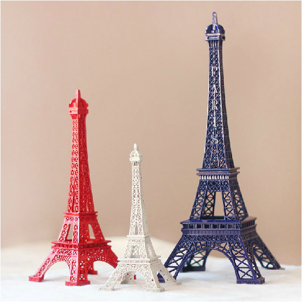 06a7871e0a US $24.9 |30cm height White Blue Red big Paris Eiffel Tower souvenirs Model  Torre eiffel bar decoration ornament carre alloy Metal crafts on ...