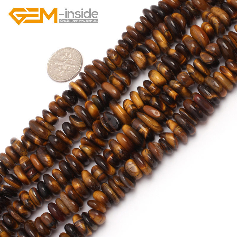 """3-5x9-13mm Natural Freeform Rondelle Disc Spacer Beads For Jewelry Making 15/"""""""
