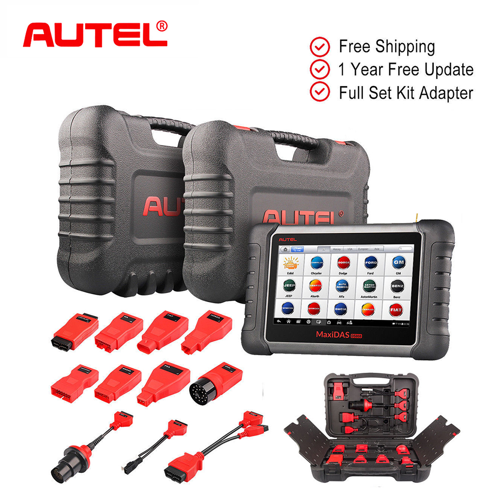 100% Original Autel OBD2 Scanner Code Reader Car Diagnostic Tool KIT MaxiDAS DS808K All sy