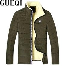 GUEQI ADD Fleece Men Warm Parkas Plus Size M-3XL Stand Collar Soft Clothing 2017 Man Winter Black Casual Coats
