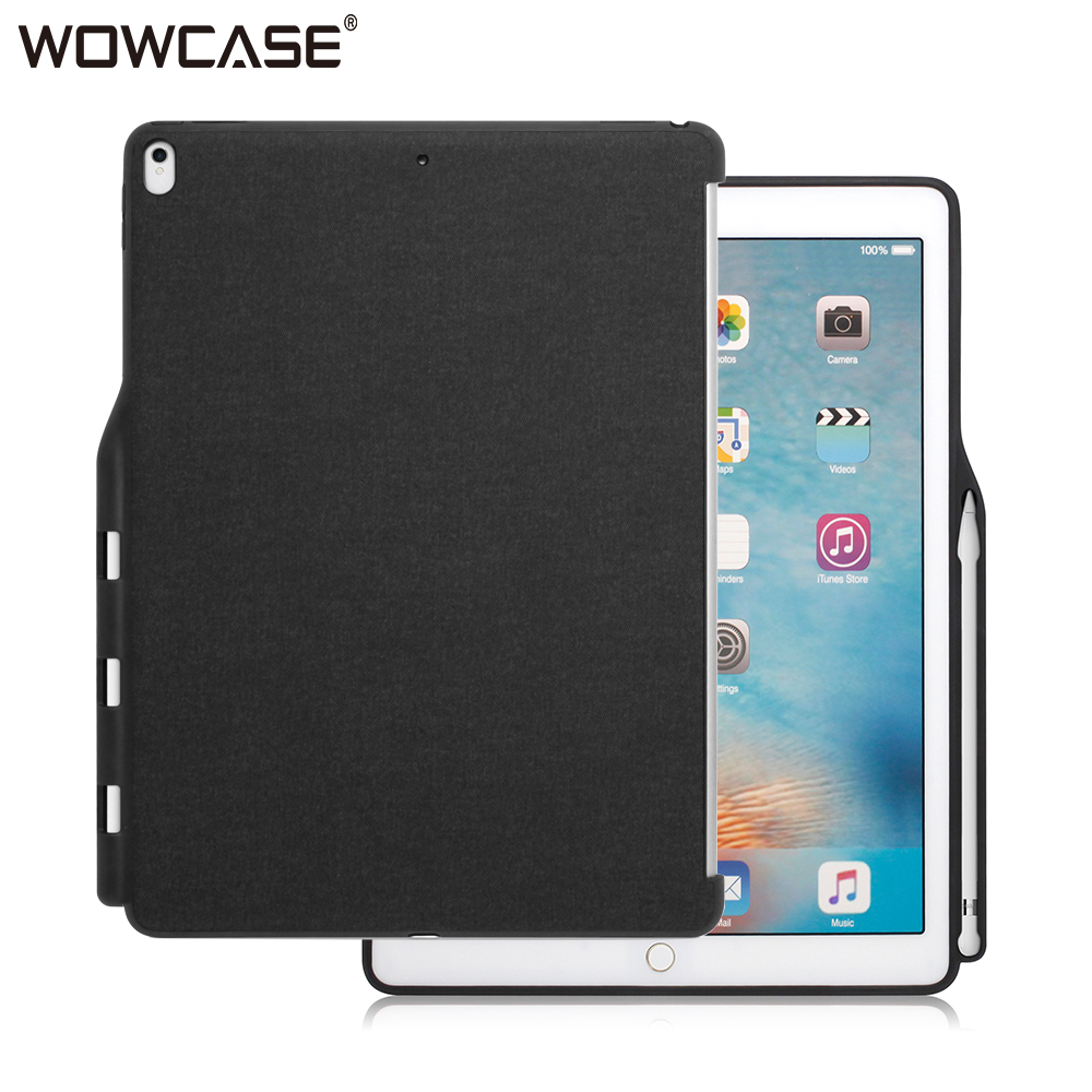 new styles 5ff85 d8bed US $10.99 20% OFF|WOWCASE Business Cases For iPad Pro 9.7 Case Luxury  Pencil Holder Slim Protector Back Cover For Apple iPad Pro 9.7