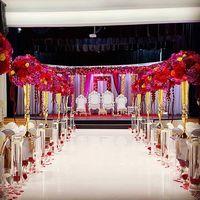 Gold Metal flower vase Wedding Decoration 10pcs/lot