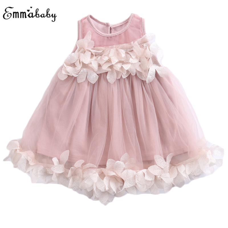 3D   Flower     Girls     Dress   Kids Baby   Girl   Clothes Princess Bridesmaid Petal Tulle Sundress Party Formal Floral Mesh   Dresses