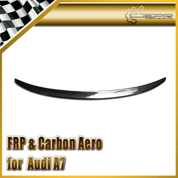 Car-styling For Audi 2014 A7 ABT Style Carbon Fiber Trunk Lip Spoiler