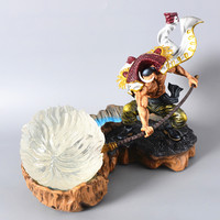 25cm Anime One Piece GK Resin Model White Beard Action Figure scale Edward Newgate VS Kaido Figure Collection Toys