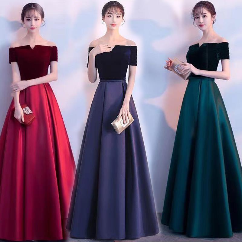 Velour   Evening     dresses   2019 graduation gown lace up formal party   dress   cusomized prom gown   dresses   robe de soiree