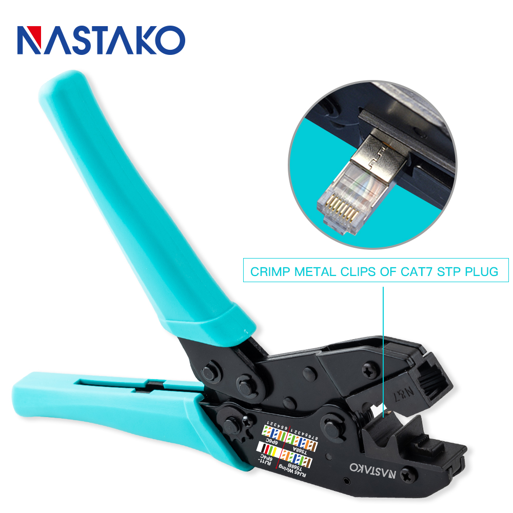 High quality Network cat7 Crimper Tool Cat7 crimping pliers tools crimper crimp tool for Cat 7 shielded Plug Green wholesale