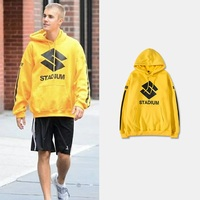 Justin Bieber Purpose Tour Hoodies Hip Hop Men Women Clothes Stadium Hoody Sweatshirts Stripes Hooded Fleece Jumper Pullovers