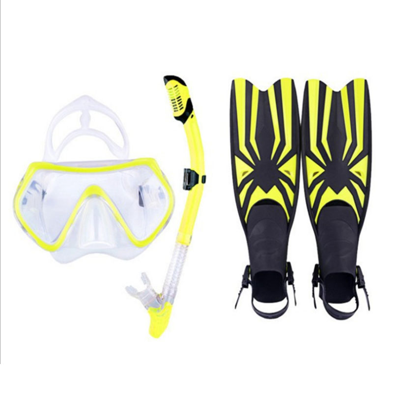 YaHey Scuba Diving Equipment Sets Whale Water Sports long Swimming Snorkeling Diving Flipper for underwater hunting scubapro crystal vu mask for scuba snorkelling diving water sports