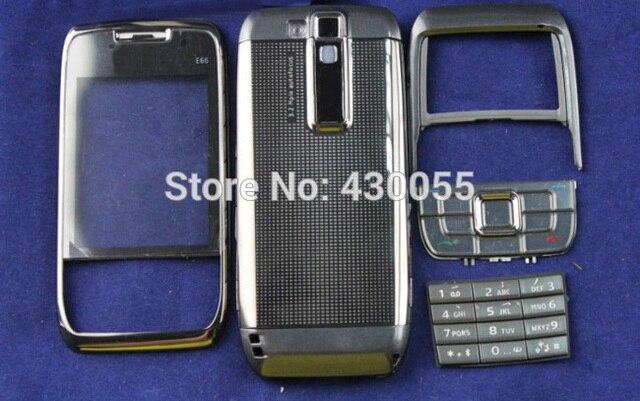 Серый Цвет Новый Полные полный Крышку Корпуса Чехол + Клавиатура Для Nokia E66 Бесплатная Доставка