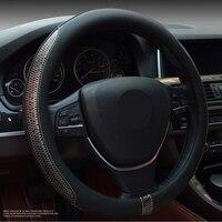 Micro Fiber Leather Steering Wheel Covers 37cm 38cmS teering Wheels Hubs Four Seasons General Auto Interior Accessories