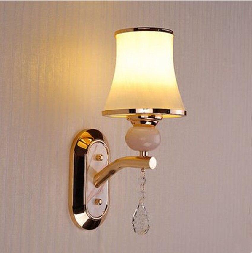 Современные fashioncrystal LED творческий Бра Гостиная Исследование Отель Ресторан спальня ночники простой современный теплое освещение