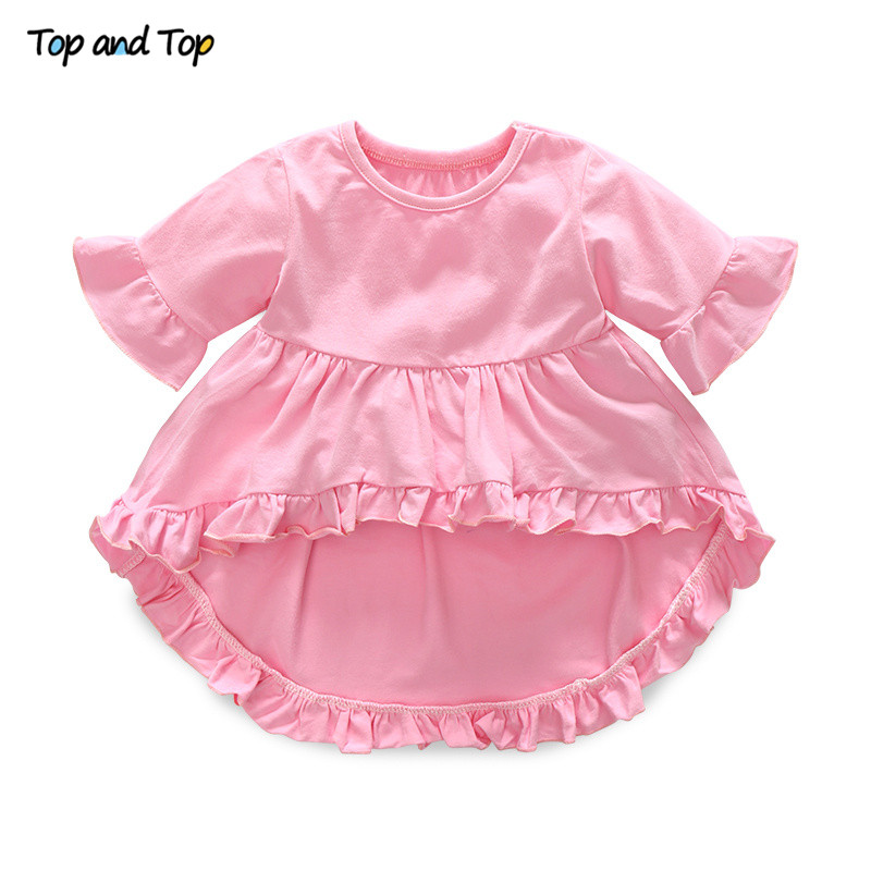 Top and Top Fashion Cute Toddler Girls Clothing Set Short Sleeve T-shirt+Trousers+Headband Baby Girl Summer Clothes 1