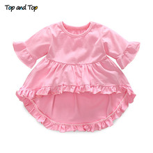 Top and Top Fashion Cute Toddler Girls Clothing Set Short Sleeve T-shirt+Trousers+Headband Baby Girl Summer Clothes