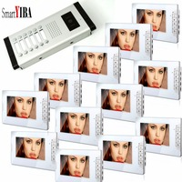 SmartYIBA 7 Apartment Private Flat Video Security Door Phone Videocitofono Casa System Support 3 to 12 Monitors For Option